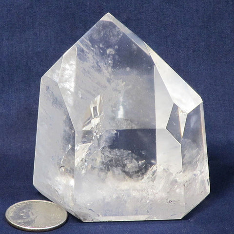 Polished Quartz Crystal Point from Brazil Time-Link Activation & Rainbow