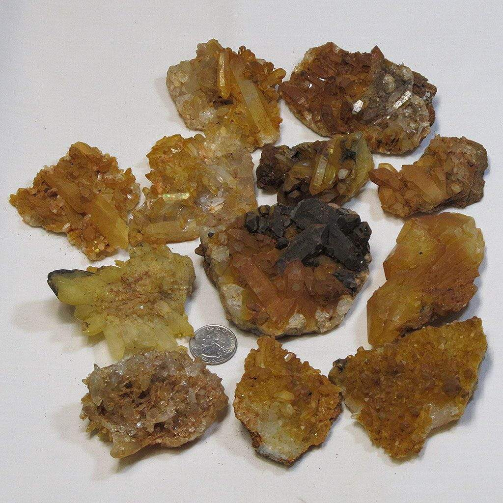 12 Natural Quartz Crystal Clusters from Arkansas
