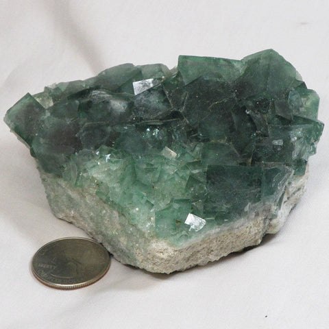 Green Fluorite Cluster from Madagascar