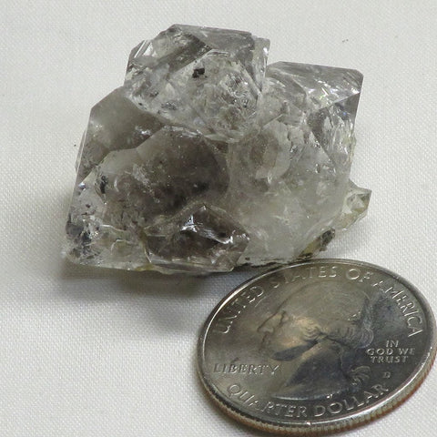 Herkimer Diamond Quartz Crystal Cluster with Rainbows