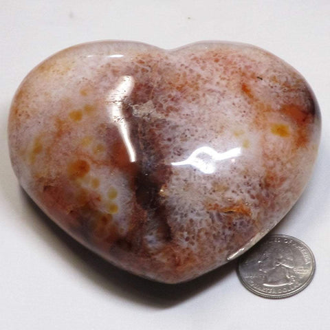 Polished Natural Carnelian Heart from Madagascar