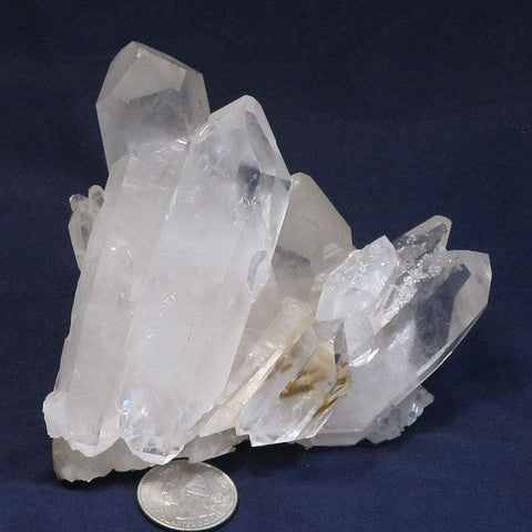 Arkansas Quartz Crystal Cluster with Rainbow and a few DT's
