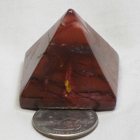 Polished Mookaite Jasper Pyramid from Australia