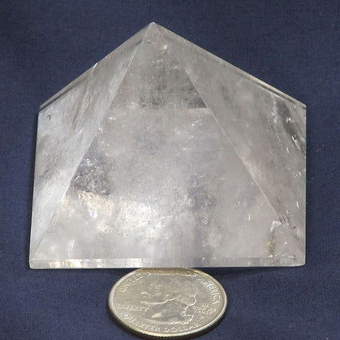 Polished Clear Quartz Crystal Pyramid from Brazil