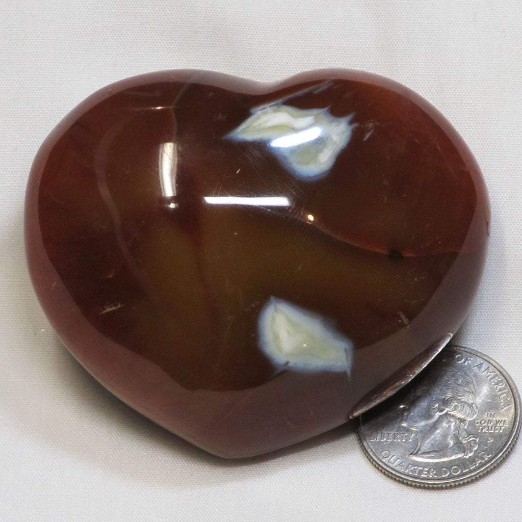 Polished Carnelian Agate Heart from Madagascar