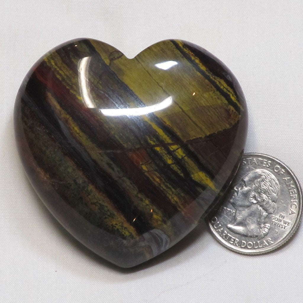 Polished Tiger Iron Heart from Central Africa