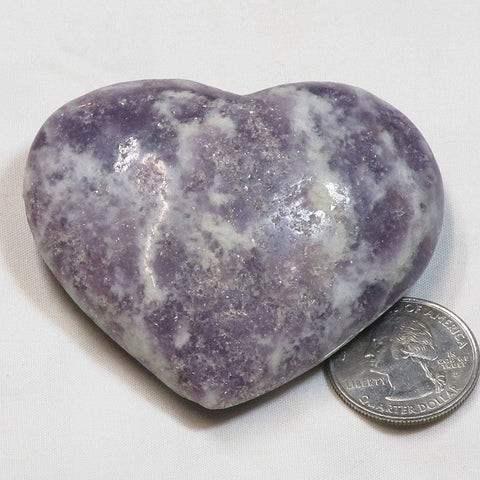 Polished Lepidolite Stone Heart from Brazil