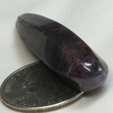 Polished Purple Corundum Sapphire from Sri Lanka