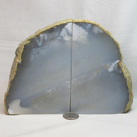 Natural Cut and Polished Agate Bookends