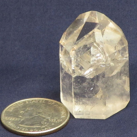 Polished Quartz Crystal Point with Penetrator from Brazil