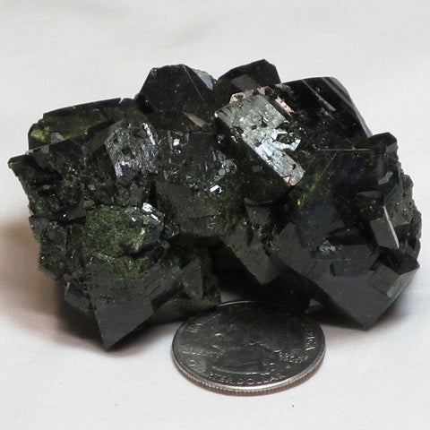 Green Epidote Cluster from Peru