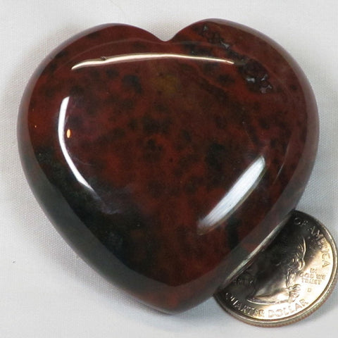 Polished Bloodstone Heart from India