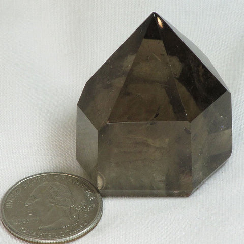 Polished Lodolite Smoky Quartz Crystal Generator Point