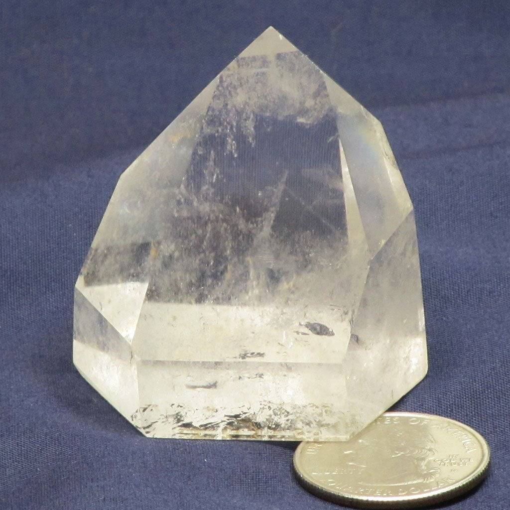 Polished Clear Quartz Crystal Point from Brazil