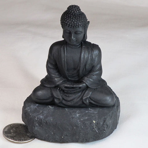 Buddha Statue made from Compressed Type 2 Shungite from Russia