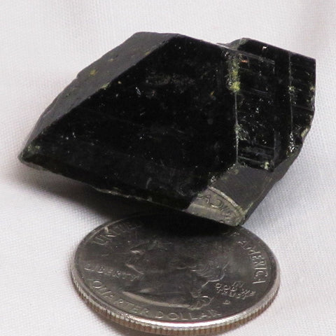 Green Epidote Terminated Crystal from Peru