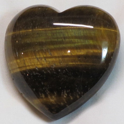 Polished Golden Tiger Eye Heart
