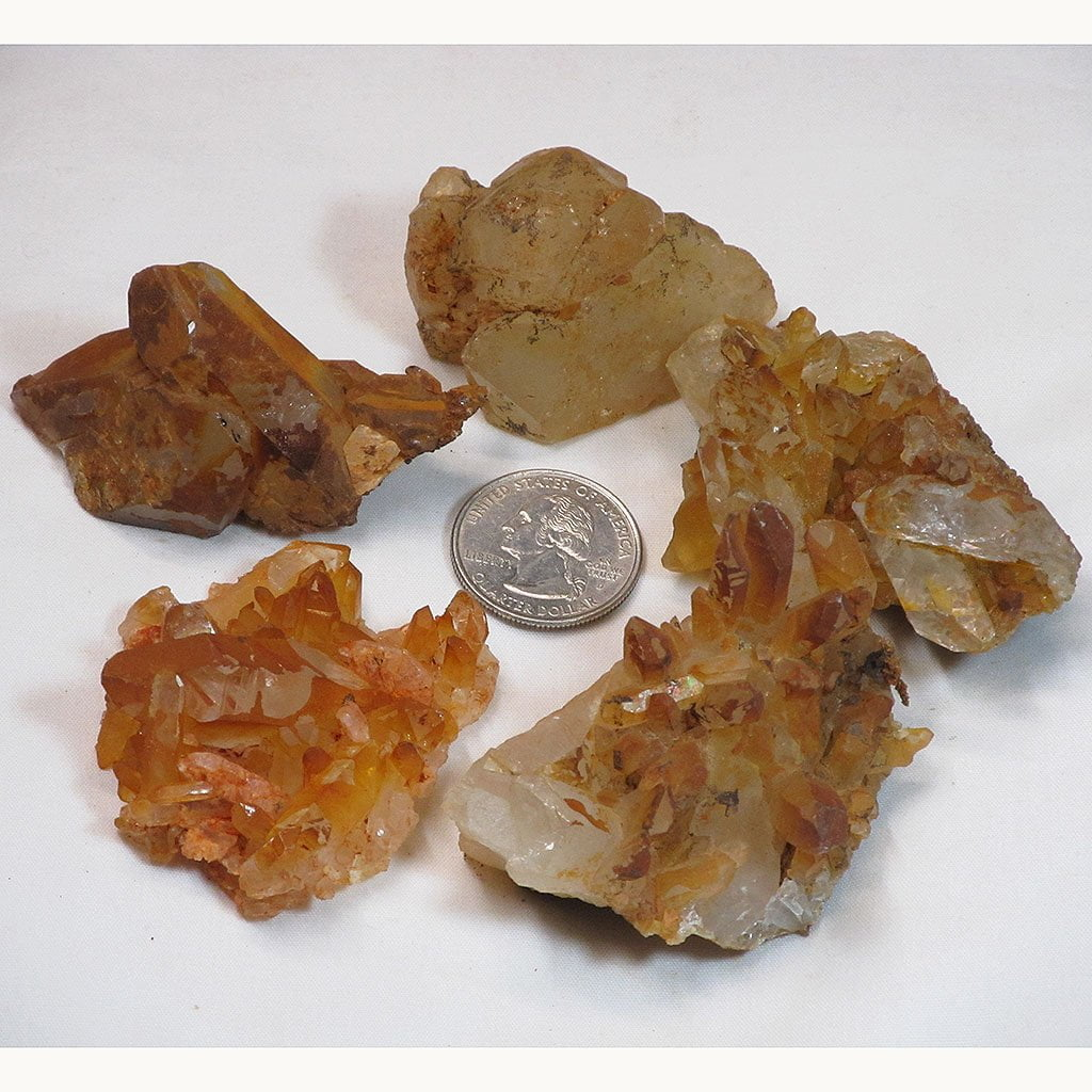 5 Natural Uncleaned Quartz Crystal Clusters