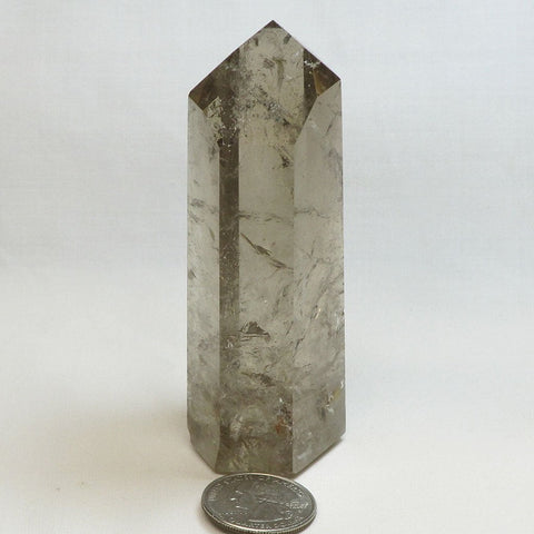 Polished Smoky Quartz Crystal Point with Time-Link Activation