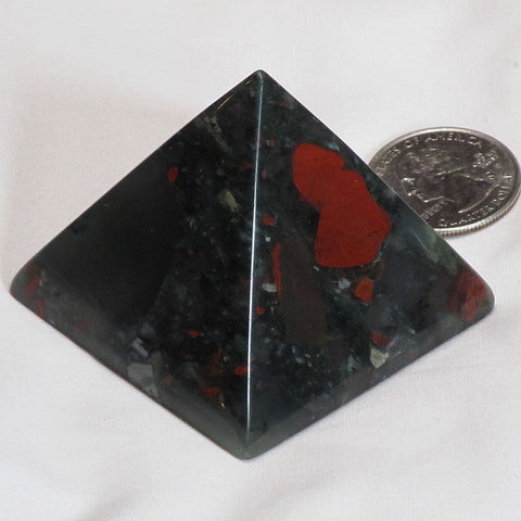 Polished Bloodstone Pyramid