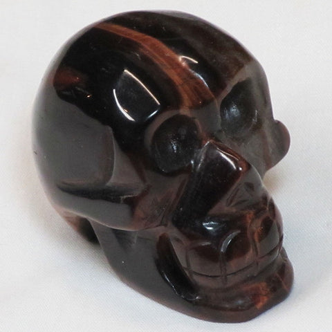Carved Red Tiger Eye Stone Skull