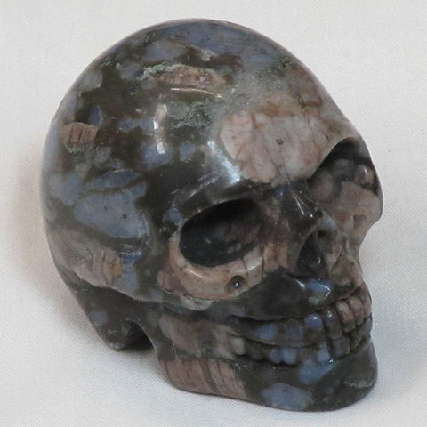 Carved Llanite Stone Skull