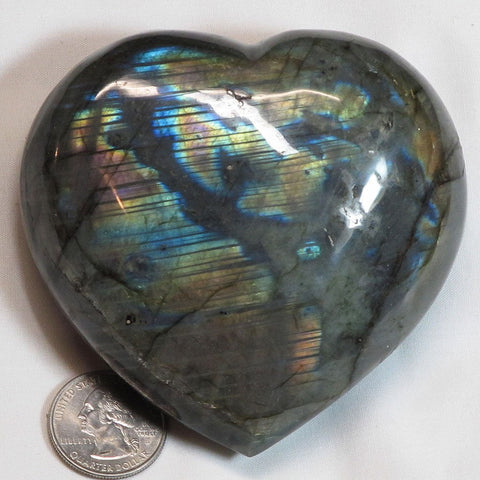 Polished Labradorite Stone Heart