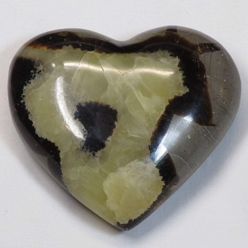 Polished Septarian Nodule Stone Heart