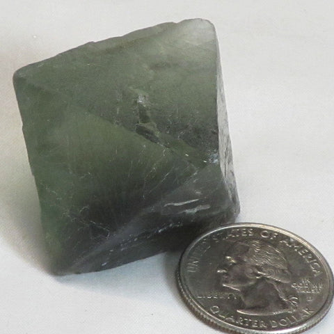 Green & Purple Fluorite Octahedron from China