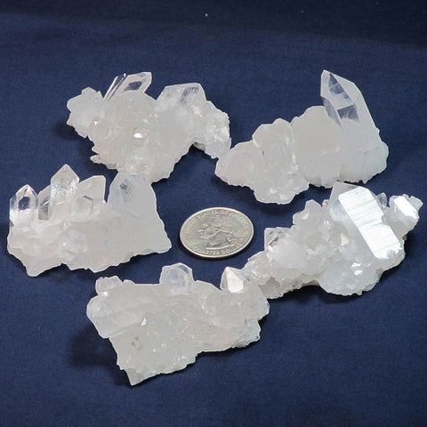 5 Quartz Crystal Clusters from Arkansas