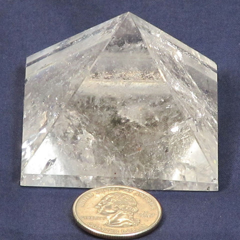 Polished Quartz Crystal Pyramid with Rainbows