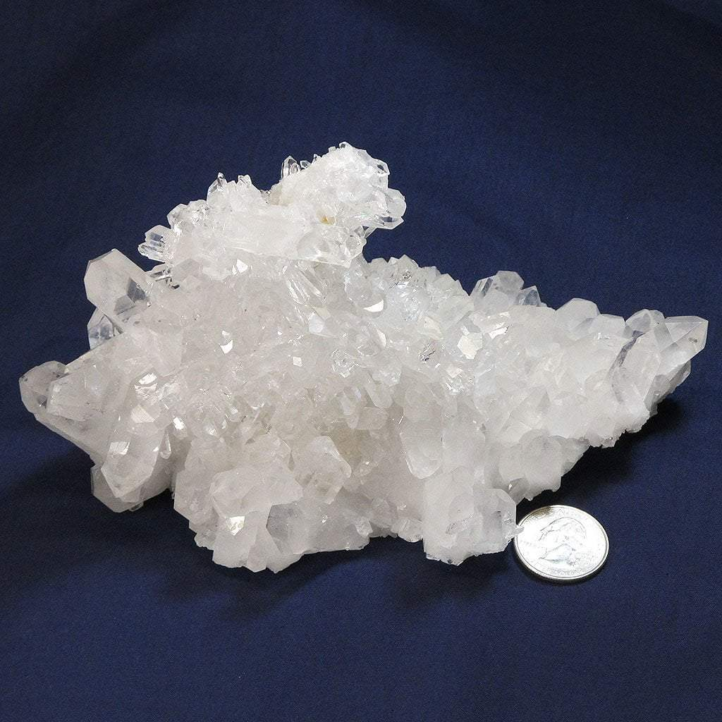 Arkansas Quartz Crystal Cluster with Grounding Point & Record Keepers