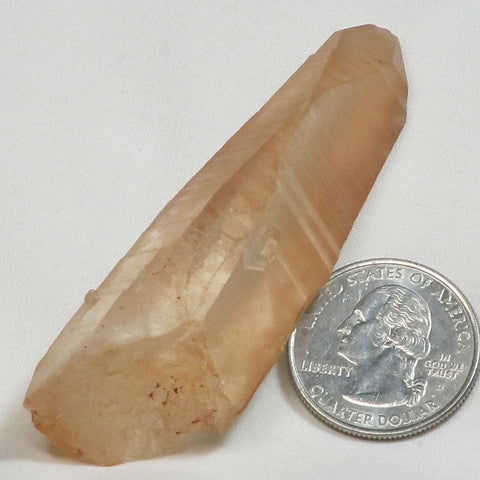 Tangerine Quartz Crystal Point from Brazil