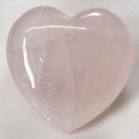 Polished Rose Quartz Crystal Heart