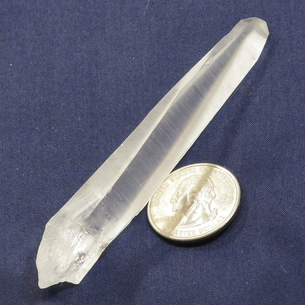 Laser Wand Quartz Crystal Point from Diamantina Mine in Brazil