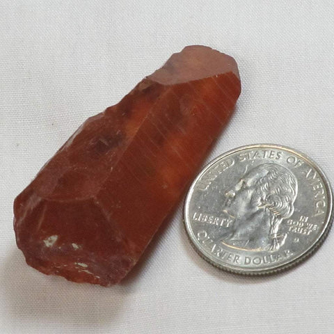 Red Dragon Quartz Crystal Point