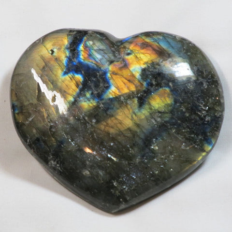 Polished Labradorite Heart