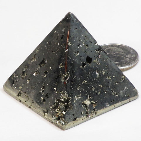 Polished Pyrite Pyramid
