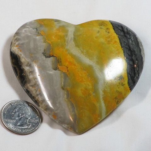 Polished Bumble Bee Jasper Heart