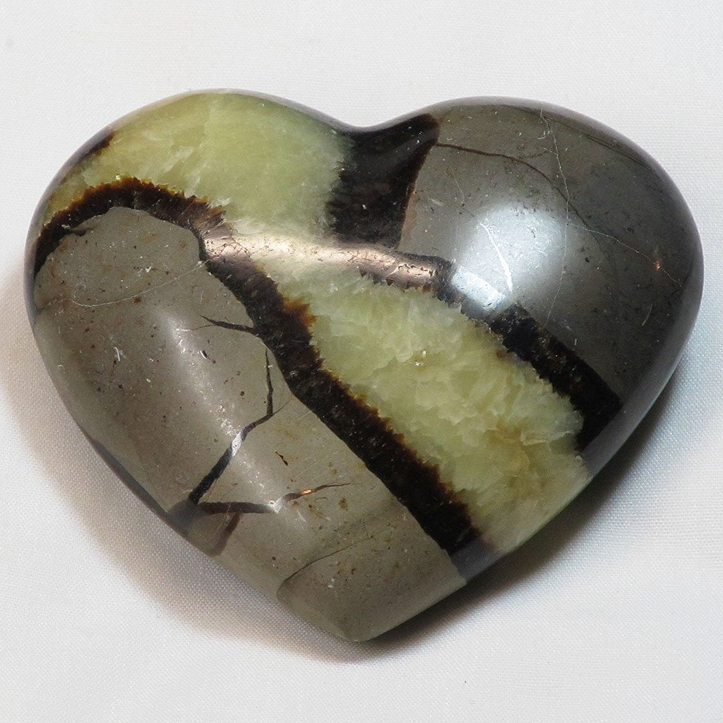 Polished Septarian Nodule Heart
