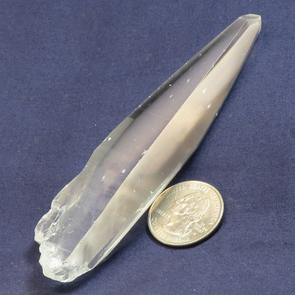 Laser Wand Quartz Crystal Tabby Point from Diamantina Mine Brazil