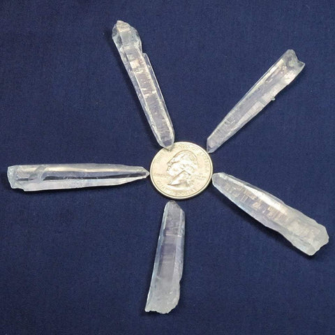 5 Laser Wand Quartz Crystal Points from Brazil
