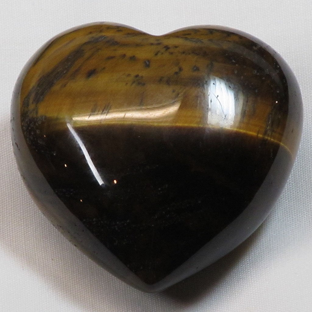 Polished Tiger Eye Heart