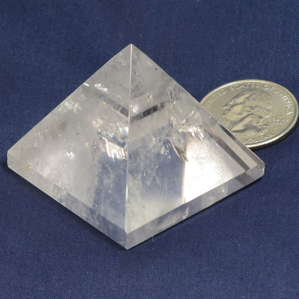 Polished Clear Quartz Crystal Pyramid