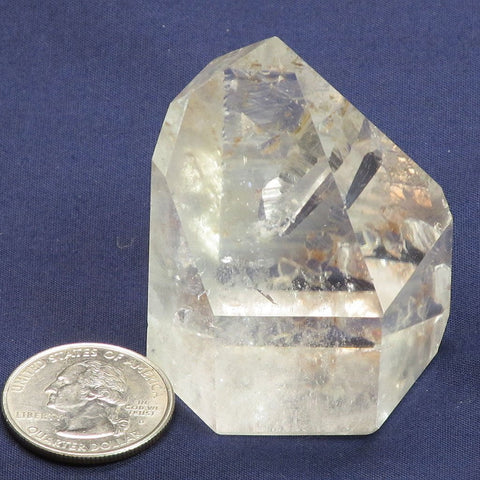 Polished Quartz Crystal Point with Penetrator