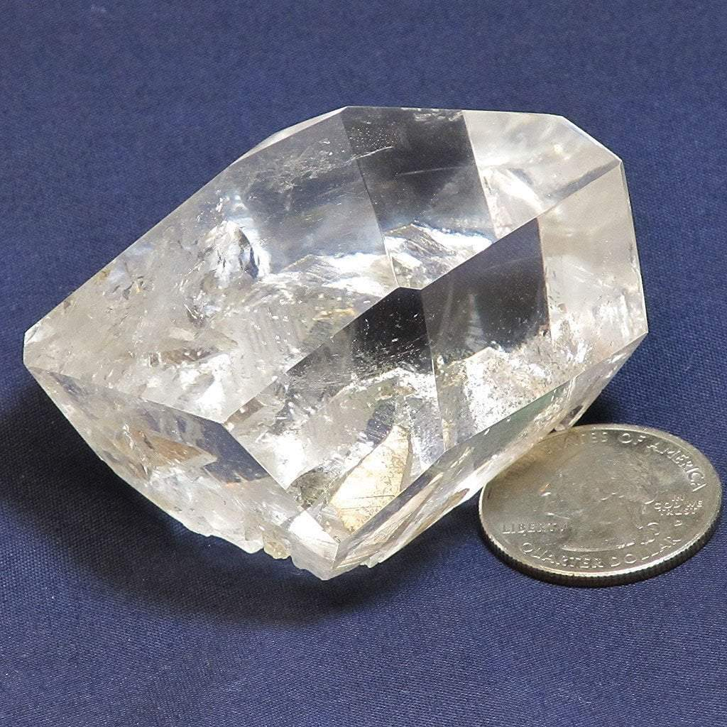 Polished Quartz Crystal with Penetrators