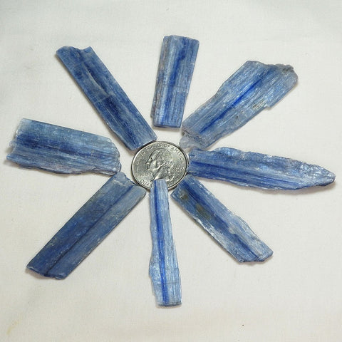 8 Blue Kyanite Blades from Brazil | Blue Moon Crystals & Jewelry