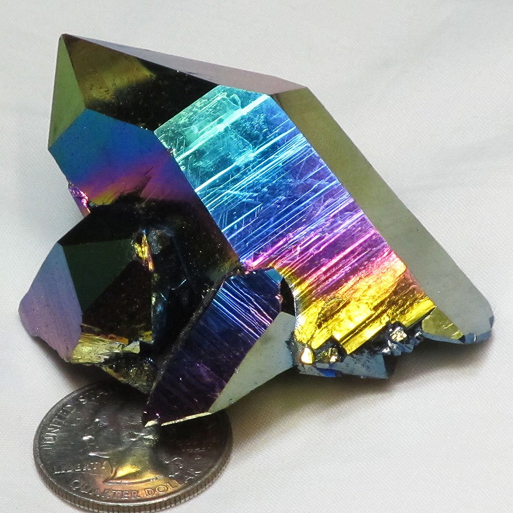 Rainbow Aura Quartz Crystal Cluster | Blue Moon Crystals