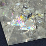Polished Clear Quartz Pyramid with Rainbows | Blue Moon Crystals