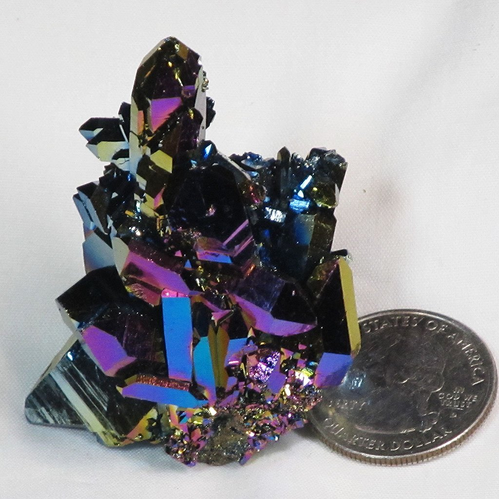 Rainbow Aura Quartz Crystal Burr Cluster | Blue Moon Crystals